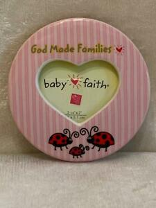 """Baby Girl Gift Magnetic Picture Photo Frame God Made Families by Russ 2"""" x 2.5"""""""