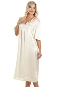 Sulis Embroidered pure silk champagne vintage retro nightdress nightgown