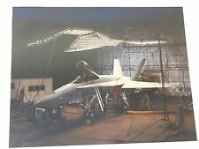 McDonnell Douglas 8x10 Color Photo FA-18 Hornet in Testing Facility Navy Vintage