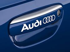 AUDI Door Handle logo stickers decals SET OF 4 cut from 10-12 year cast vinyl