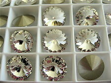 6 Clear Crystal Foiled Swarovski Rivoli Stone 1122 12mm