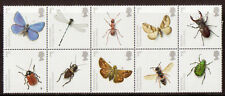GREAT BRITAIN 2008 INSECTS BLOCK OF 10 UNMOUNTED MINT, MNH