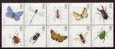 Gran Bretaña 2008 Insectos Bloque De 10 Menta desmontado, Mnh