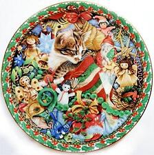 Lesley Anne Ivory MEET MY KITTENS December Twiglet Calender Cat Plate