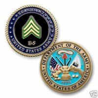 """ARMY SERGEANT E-5  MILITARY RANK 1.75"""" CHALLENGE COIN"""
