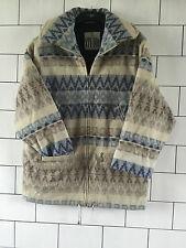 Rétro Vintage Aztèque Urban Tribal Surdimensionné Navajo Veste Manteau Taille UK 10 #016