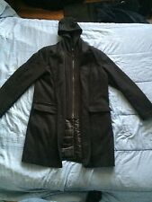 Men's Black Guess Black Peacoat w/ Removabe Hood: Size M