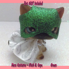 Littlest Pet Shop Clothes & Accessories LPS outfit Green Masked HERO (NO PET)#43