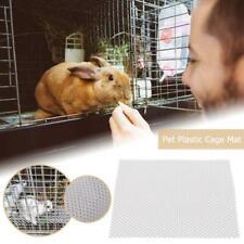 Pet Plastic Cage Mat Hamster Rabbit Cage Grids Holes Anti-slip Feet Pads N#S7