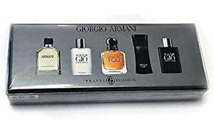 Armani M 5 Pc Mini Set(armani 7ml+gio 5ml+strngr With U 7ml+code 4ml+profumo 5ml