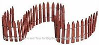 Lemax 84813 WIRED WOODEN FENCE Christmas Village Scenery S O G Scale Train I