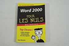 WORD 2000 pour les NULS format poche mini reference 2003 bon etat