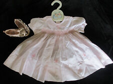 Sweet Pink dress CARRIAGE BOUTIQUES by FRIEDKNIT CREATIONS Baby Girls 9 month