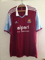 West Ham United Home Shirt 2013 2014 Top Football Soccer Jersey Mint Mens Size