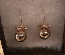 Zirconia Year-Round Earrings 1 inch Silpada W3005 .925 Sterling Silver Cubic