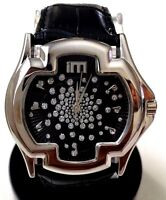 Ice Master BM1311 Mens Formal Watch Black F Leather Band, Mens Sports Watch 1ATM