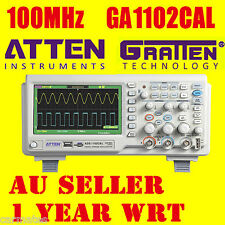 "ATTEN OSCILLOSCOPE GA1102CAL 100MHz 2Ch 7"" Large LCD Screen USB Multimeter AU"
