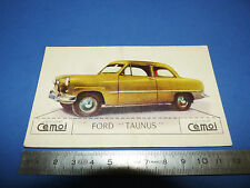 CHROMO 1950-1959 CHOCOLAT CEMOI DECOUPAGE AUTOMOBILE AUTO FORD TAUNUS