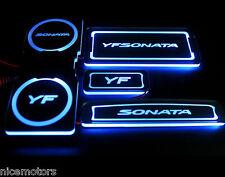 Acrylic LED Cup Holder & Plate SET For Hyundai i45 Sonata Hybrid 2011-2014