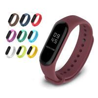 Silicon Wrist Strap WristBand Bracelet fit XIAOMI MI Band 2 / MI Band 3
