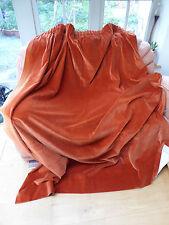 Pair of Burnt Orange Cotton Velvet Curtains 68 inches W x76 inches H =1.73x1.94m