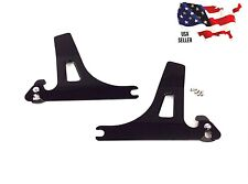 GLOSS BLACK DETACHABLES SIDEPLATES HARLEY DYNA 52124-09 09A SISSY BAR DETACHABLE