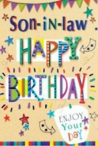 Son In Law Birthday Card ~ Enjoy Your Day By Card Essentials ~ Free P&P
