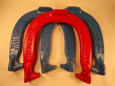Vintage Pair of West Michigan Foundry Pitching Horseshoes Muskegon Michigan Rare