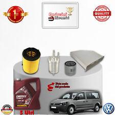 KIT TAGLIANDO FILTRI + OLIO VW CADDY IV 2.0 EcoFuel 80KW 109CV DAL 2010 ->