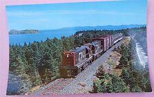 CN Mixed Train #212 Brugus Jct  Terra Transport Newfoundland Train Postcard