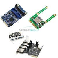 4 Port PCI-E Mini Card Slot Express Expansion to USB 2.0/3.0 Adapter Riser Card