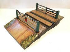 🚉 Vintage Tin HORNBY O Gauge Railways LEVEL CROSSING Circa. 1935 Gates Complete