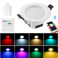 RGBWC Smart Spotlight LED Ceiling Lamp Down Light WIFI Bluetooth APP/Touch Panel