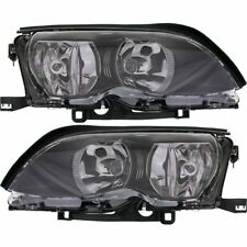 Headlight Set For 2002-2005 BMW 325i 320i Left and Right Halogen With Bulb 2Pc