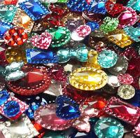 20g / 200 Mix Acrylic Flat Back Cabochon Gem Rhinestone Embellishment Deco Jewel