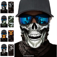 Ghost Biker Skull Hood Face Mask Motorcycle Ski Balaclava Bike Sport Headband