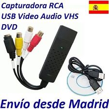 Adaptador USB Captura Imagen Video TV Consola Captura Salva Disco Duro Sicroniza