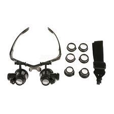 Kopflupe Lupenbrille Lupen LED Licht 1015/20/25x Vergrößerung Stirnlupe
