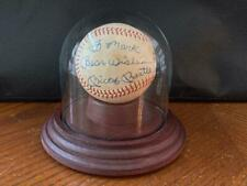 Signed Mickey Mantle Baseball with Display Case- JSA AUTHENTICATION