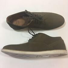 Clark's Franson Plain Mens Brown Nubuck Leather Casual Dress Oxfords Shoes 8