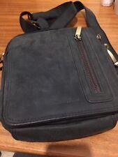 MarcoPolo Small Leather Shoulder Messenger Crossbody Bag For Men Dark Brown