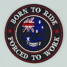 Born to Ride AUSTRALIA VEST HARLEY DAVIDSON BIKER PATCH IRON ON SEW ON JACKET