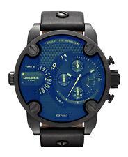 Armbanduhren aus echtem Leder mit 24-Stunden-Zifferblatt und Matte