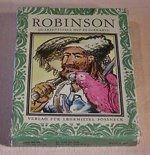 Spielzeug Peterspiel Quartett Robinson sein DDR 1978 Pössneck Kartenspiel Spielzeug