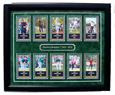 Masters Champions 2010 thru 2019 framed Tiger Woods Phil Mickelson Jordan Spieth