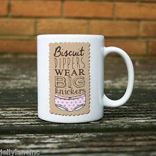Biscuit Dippers Wear Big Knickers Diet, Healthy Eating, Joke,  Mug 11oz, Ceramic