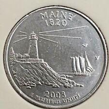US State Commemorative Quarter Dollar Series,2003-P MAINE 1820 Ex-Fine+