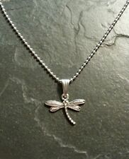 Dragonfly Silver Charm Pendant Set Necklace Gift Present