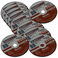 Sealey 10 Pack Metal Stainless Steel Cutting Discs 75mm x 1.2mm Angle Grinder
