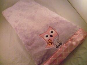 Personalized Baby Bird Minky Blanket Birdie Pink Chevron with Aqua Minky